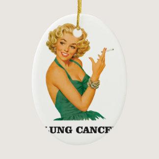 lung cancer girl ceramic ornament