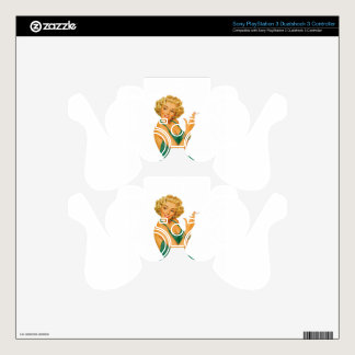 lung cancer girl decal for PS3 controller