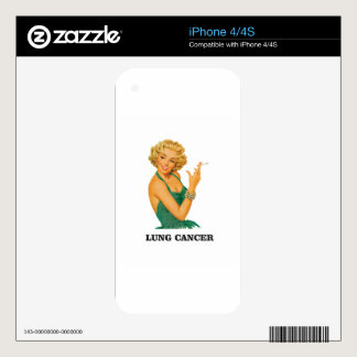 lung cancer girl decals for the iPhone 4S