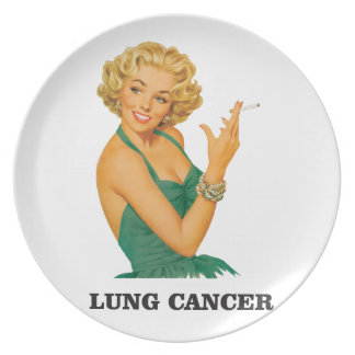 lung cancer girl dinner plate