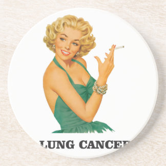 lung cancer girl drink coaster