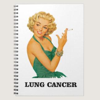 lung cancer girl spiral notebook