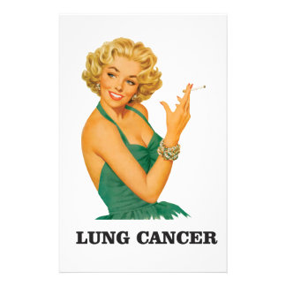 lung cancer girl stationery