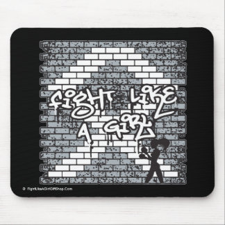 Lung Cancer Graffiti Wall Fight Like A Girl Mouse Pad