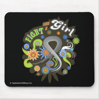 Lung Cancer Groovy Fight Like A Girl Mouse Pad