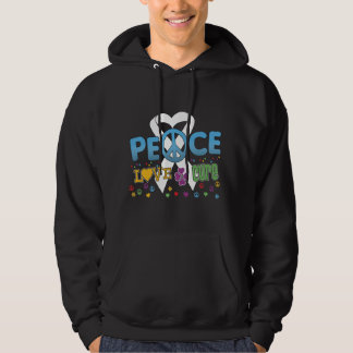 Lung Cancer Groovy Peace Love Cure Pullover