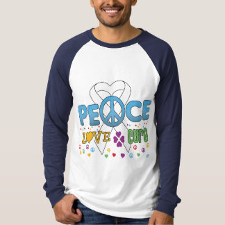Lung Cancer Groovy Peace Love Cure Shirts