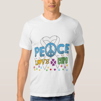Lung Cancer Groovy Peace Love Cure T-shirt