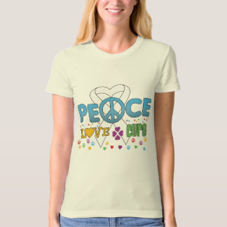 Lung Cancer Groovy Peace Love Cure Tees