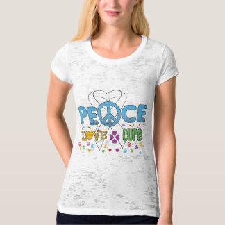 Lung Cancer Groovy Peace Love Cure Tshirt
