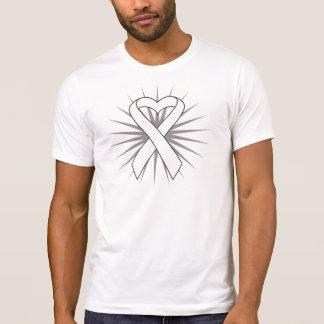Lung Cancer Heart Ribbon Tshirts