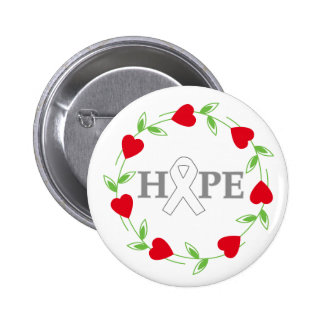 Lung Cancer Hearts of Hope Button