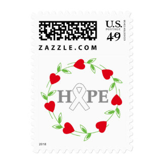 Lung Cancer Hearts of Hope Stamp