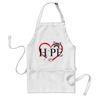 Lung Cancer Hope Butterfly Heart Décor Aprons