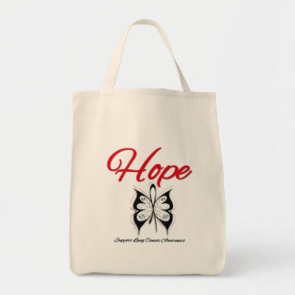 Lung Cancer Hope Butterfly Ribbon Canvas Bag
