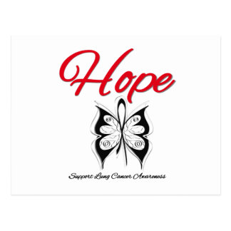 Lung Cancer Hope Butterfly Ribbon Post Cards