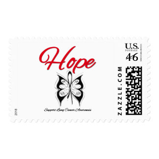 Lung Cancer Hope Butterfly Ribbon Postage Stamps