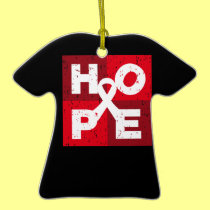 Lung Cancer HOPE Cube Ornaments