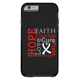 Lung Cancer Hope Faith Motto iPhone 6 Case