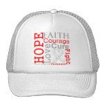 Lung Cancer Hope Faith Motto Trucker Hat