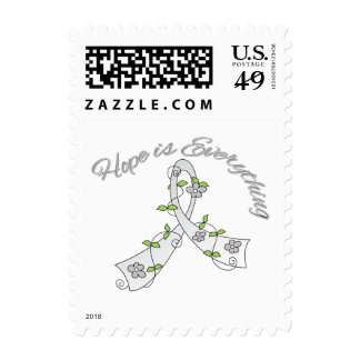 Lung Cancer Hope is Everything Postage Stamp