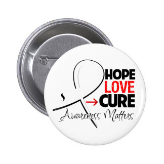 Lung Cancer Hope Love Cure 2 Inch Round Button