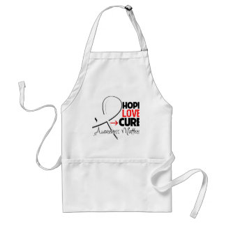 Lung Cancer Hope Love Cure Adult Apron