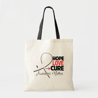 Lung Cancer Hope Love Cure Budget Tote Bag