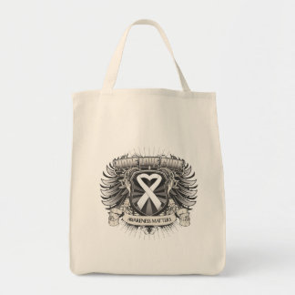 Lung Cancer Hope Love Cure Canvas Bags