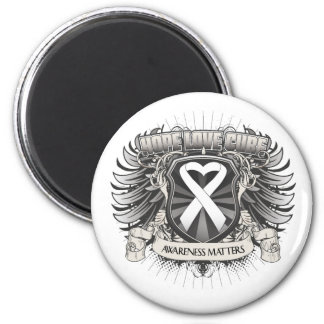Lung Cancer Hope Love Cure Fridge Magnets