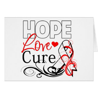 Lung Cancer Hope Love Cure Greeting Card