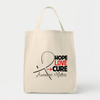 Lung Cancer Hope Love Cure Grocery Tote Bag