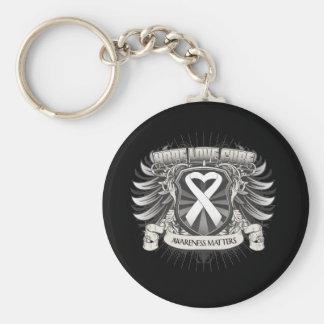 Lung Cancer Hope Love Cure Key Chain