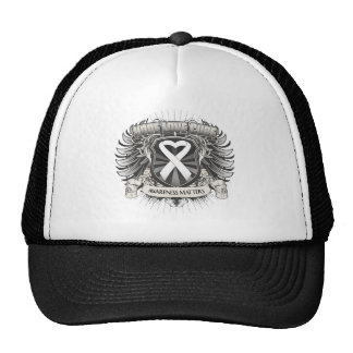 Lung Cancer Hope Love Cure Mesh Hat