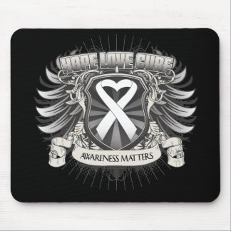 Lung Cancer Hope Love Cure Mouse Pad