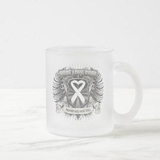 Lung Cancer Hope Love Cure Mug