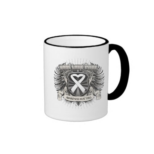 Lung Cancer Hope Love Cure Mugs