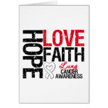 Lung Cancer Hope Love Faith Greeting Cards