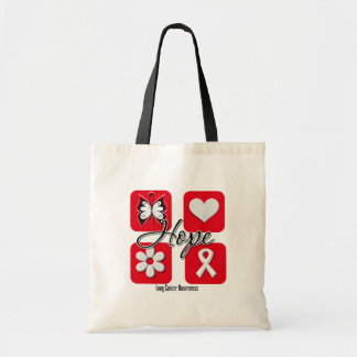 Lung Cancer Hope Love Inspire Awareness Canvas Bag