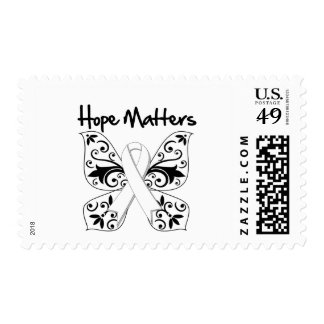 Lung Cancer Hope Matters Postage Stamps