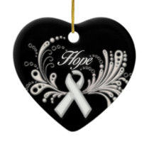 Lung Cancer Hope Ornament