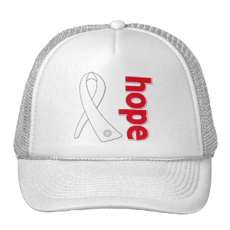 Lung Cancer Hope Ribbon Trucker Hat