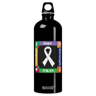 Lung Cancer Hope Strength Faith SIGG Traveler 1.0L Water Bottle