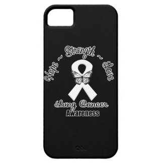 Lung Cancer Hope Strength Love iPhone SE/5/5s Case
