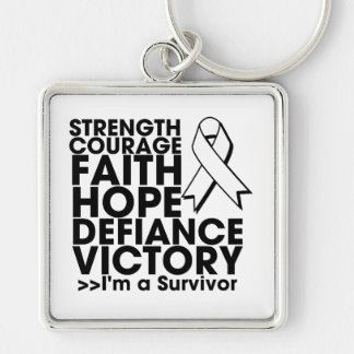 Lung Cancer Hope Strength Victory Key Chains