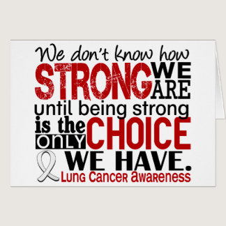 Lung Cancer How Strong We Are Card