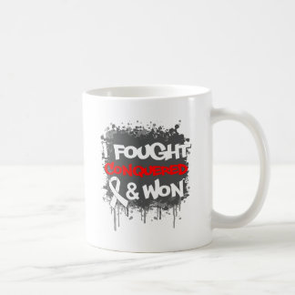 Lung Cancer I Fought Conquered Won Mugs