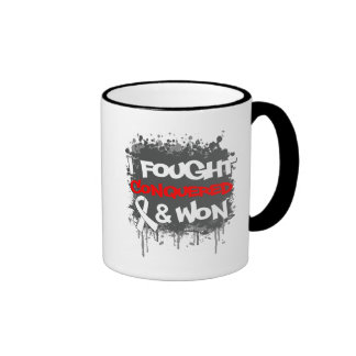 Lung Cancer I Fought Conquered Won Coffee Mug