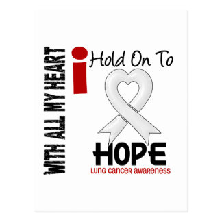 Lung Cancer I Hold On To Hope Postcard