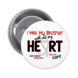 Lung Cancer I Miss My Brother 2 Inch Round Button